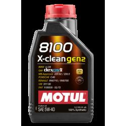 Motul 8100 X-clean Gen2 5W-40, 1 литр