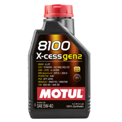 Motul 8100 X-cess Gen2 5W-40, 1 литр