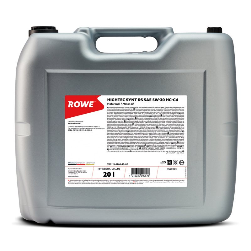 ROWE HIGHTEC Synt RS HC-C4 5W-30 20л.