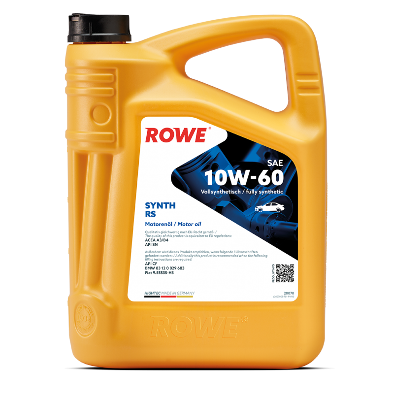ROWE HIGHTEC Synt RS 10W-60 5л.