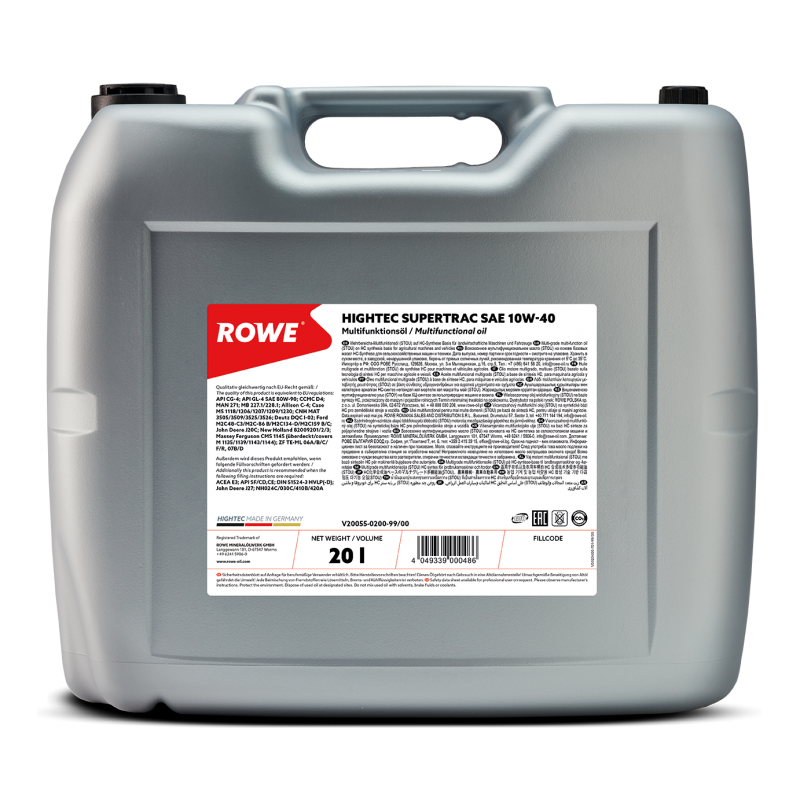 ROWE HIGHTEC Supertrac (STOU) 10W-40 20л.