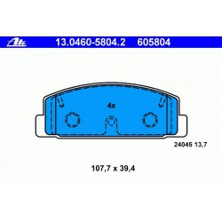 Тормозные колодки ATE задние для Mazda 6 (2007 - 2012)