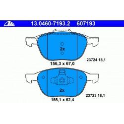 Тормозные колодки ATE передние для Mazda 3 1.6l, 2.0l (2004 - )